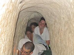 Yahel Social Change Participants explore underground Israel