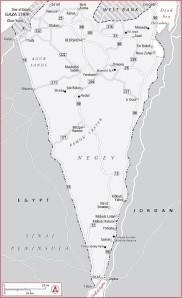 Negev Map, Yahel Volunteering in Israel