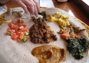 Injera for Shabbat Meal in Israel
