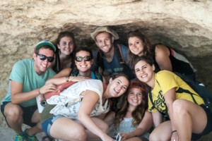 Yahel Volunteers on Yitzchak Rabin Memorial Hike
