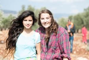 Hannah with her Druze host, Hadeel