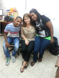 Rachel with FBN co-workers Miko and Haya