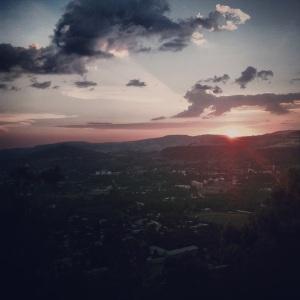 Sunset over Gondar