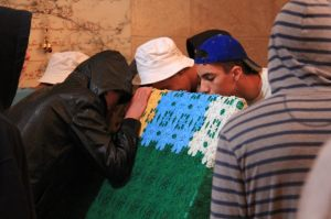 At the grave of Prophet Nabi Shu'ayb
