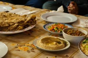 Some of the delicious Druze food we had on our trip