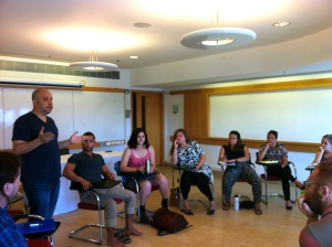 The group meeting with Steven Beck from IRAC