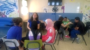 Yahel volunteers working with local youth
