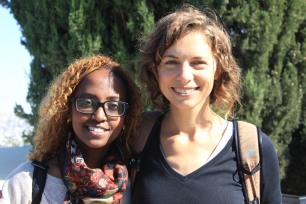 Tamara and Tadela, staff of the Yahel Social Change Program